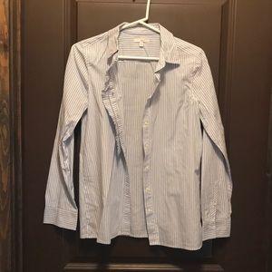 Ruffle flair Button down shirt